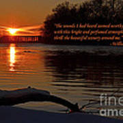 Inspirational Sunset With Quote Art Print