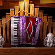 Instrument - Accordian - The Accordian Organ  Art Print