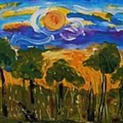 Intense Sky And Landscape Art Print