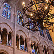 Interior Notre Dame Cathedral Art Print