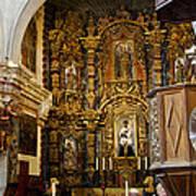 Interior San Xavier Mission Art Print