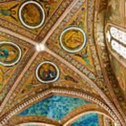 Interior St Francis Basilica Assisi Italy Art Print by Jon Berghoff