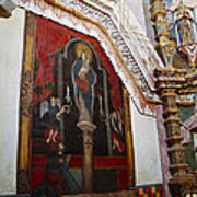 Interior Wall San Xavier Del Bac Mission Art Print