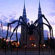 Invasion Of The Black Spider Art Print