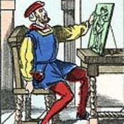 Invention Of Engraving, Medieval Europe Art Print by Cci Archives