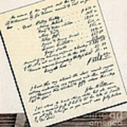 Invoice Of A Sale Of Black Slaves Art Print