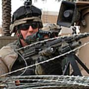 Iraqi And U.s. Soldiers Patrol The Al Art Print