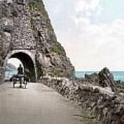 Ireland: Black Cave Tunnel Art Print