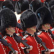 Irish Guards March Pass During The Last Art Print by Andrew Chittock
