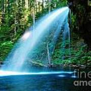 Iron Creek Falls From The Side  Art Print