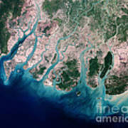 Irrawaddy River Delta Art Print by Nasa