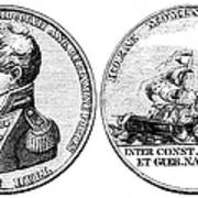 Isaac Hull: Medal Art Print
