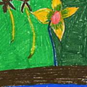 Island Flower Art Print