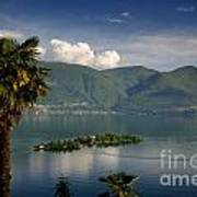 Islands On An Alpine Lake Art Print