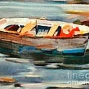 Istrian Fishing Boat Art Print