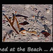 It Happened At The Beach Art Print