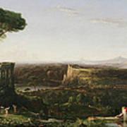 Italian Scene Composition Art Print by Thomas Cole