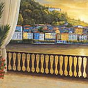 Italian View Art Print by Diane Romanello