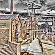 Italian Village-sydney Harbor Bridge Art Print