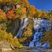 Ithaca Falls In Autumn Art Print by Matt Champlin