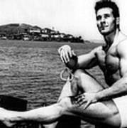 Jack Lalanne Before Handcuffed Swim Print by Everett