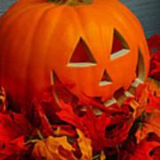 Jack-o-lantern Halloween Display Art Print