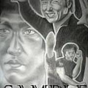 Jackie Chan And Bruce Art Print by Rick Hill
