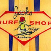 Jacks Surf Shop Art Print