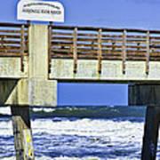 Jacksonville Beach Fishing Pier Art Print