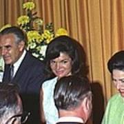 Jacqueline And Robert Kennedy Host Art Print