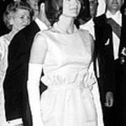 Jacqueline Kennedy At A Dinner To Honor Art Print