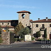 Jacuzzi Family Vineyards - Sonoma California - 5d19322 Print by Wingsdomain Art and Photography