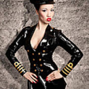 Jade Vixen Military 1143 Art Print