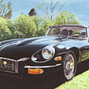 Jaguar E Type III Art Print
