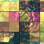Jaguar Geo Pink And Green Art Print