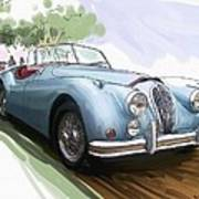 Jaguar X K 140 Art Print