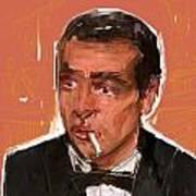 James Bond Art Print by Russell Pierce