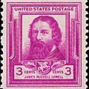 James Russell Lowell Postage Stamp Art Print