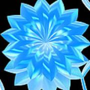 jammer Blue Shimmer Lotus Art Print