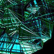 Jammer Swirling Emeralds  Art Print