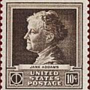 Jane Addams Postage Stamp Art Print