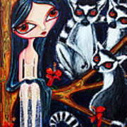 Jane And The Lemurs Art Print