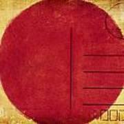 Japan Flag Postcard Art Print