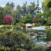 Japanese Garden Panorama 1 Art Print