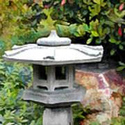 Japanese Garden Stone Snow Lantern Art Print