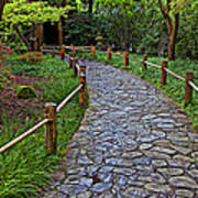 Japanese Tea Garden Path Art Print