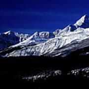 Jasper National Park In Winter Time Art Print