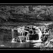 Java Falls Monochrome Art Print