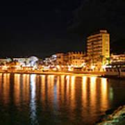 Javea Port At Night Art Print