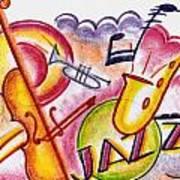 Jazz Deco Art Print